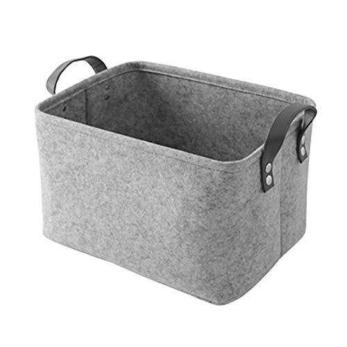 Cesta de cuerda de algodón Fieltro de lana cestas de almacenamiento de soporte plegable juguete cesta de lavadero for la ropa sucia sucios juguete bolsa de almacenamiento de contenedores del organizad
