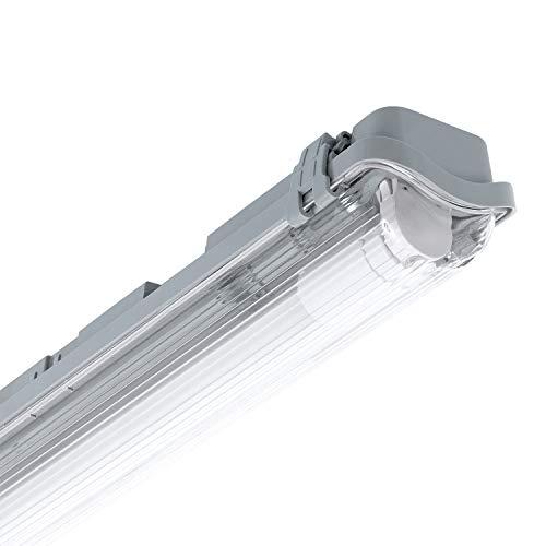 LEDKIA LIGHTING Pantalla Estanca Slim para un Tubo de LED 1200mm PC/PC Conexión un Lateral 1200 mm