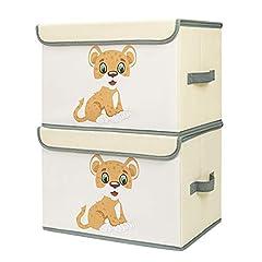 DIMJ 2 Stück Kinder Aufbewahrungsboxen