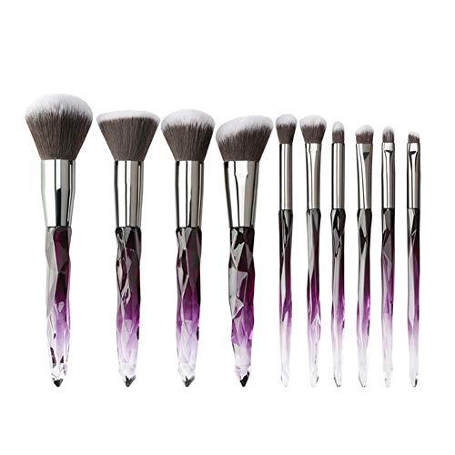 WeiMay Pinceaux Maquillage,Pinceaux de Maquillage Cosmetics Professional Essential 10 pcs Kits de Brosse de Maquillage Violet