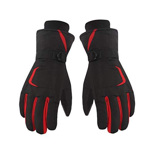 BESPORTBLE 1 Paar Unisex-Skihandschuhe Wasserdicht Winter Warme Handschuhe Touchscreen-Handschuhe Snowboardhandschuhe für Outdoor-Klettersport (Rot Größe L)