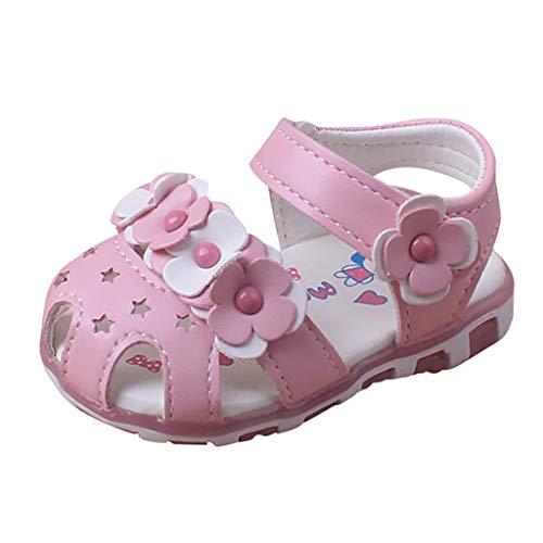 Sandalen Prinzessin Mädchen Baby Hallow Flower Light Beach Sandalen Mädchen Süße weiche Schuhe Supersoft Hausschuhe-Pwtchenty
