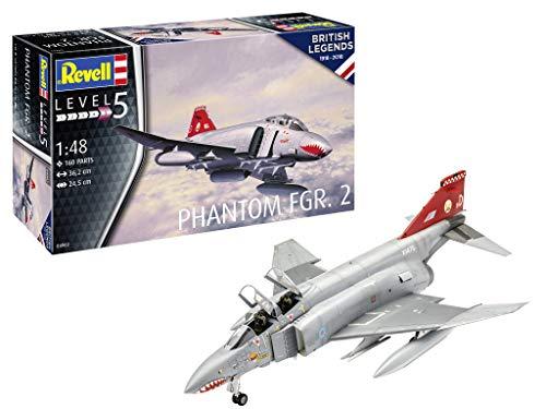 Revell 04962 British Legends: Phantom FGR.2 originalgetreuer Modellbausatz für Experten, Mehrfarbig, 1/48