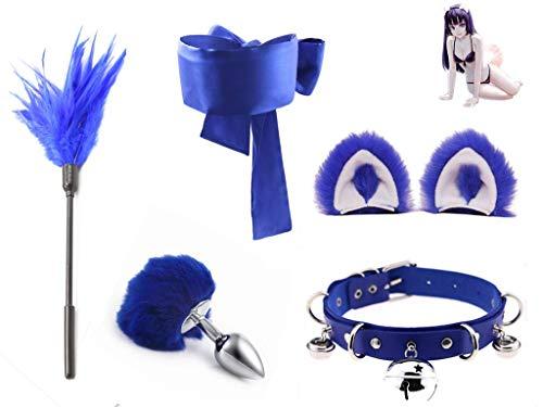 Forocean ✦ Metal ÀmàlPlùg 3 Tailles F1uffy Faux Fox Tail Būtt Plùg Trainer & Cat Ears Headband Cosplay F1irt Toy