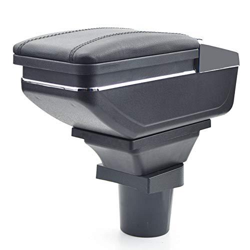 Für Mitsubishi Colt 2005-2011 Armlehnebox Mittelkonsole mit Aufbewahrungsbox Mittelarmlehne Schwarz