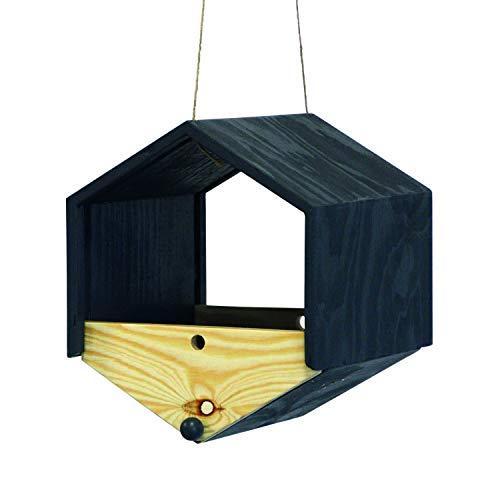 bellissa Hochwertiges Vogelhaus, Vogelfutterspender, Vogelhäuschen für Vogelfutter – Futter-silo zum Aufhängen auch als Meißenknödel-Halter Futterstelle vita 21x18x18,5 cm
