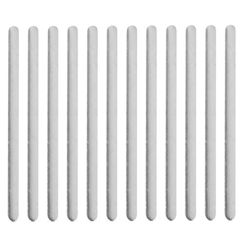 EXCEART 200 PCS Herstellung von Zubehör Nasenbrückenstreifen Einstellbare Nasenklammern Metallstreifen für den Heimwerkerhandwerksschutz (Heißschmelzkleber)