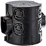 Kopp Profipack Schalterdose Unterputz, Durchmesser, Geräteschraubenabstand 60 mm, Dosentiefe 65 mm, Farbe scharz, 25 Stück im Netz, 354302504