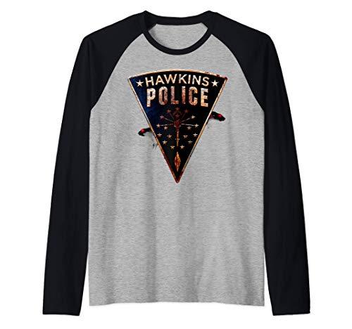 Netflix Stranger Things Hawkins Police Rats Patch Camiseta M