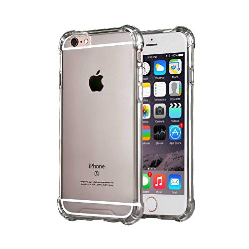 Compatible with iPhone 6 Plus and iPhone 6s Plus 5.5-Inch Case,Slim Clear TPU Protective Heavy Duty Case Fit for iPhone 6 Plus (2014) / 6S Plus(2015) 5.5 inch Gray