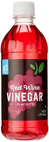 Amazon Brand - Happy Belly Red Wine Vinegar, Kosher, 16 Fl Oz