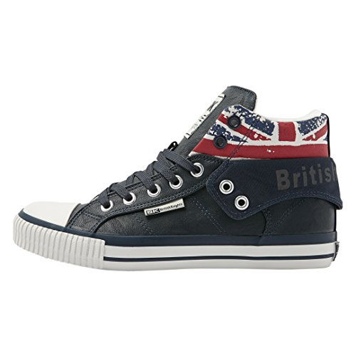 British Knights Herren ROCO High-Top, Blau (navy/union jack 04), 45 EU
