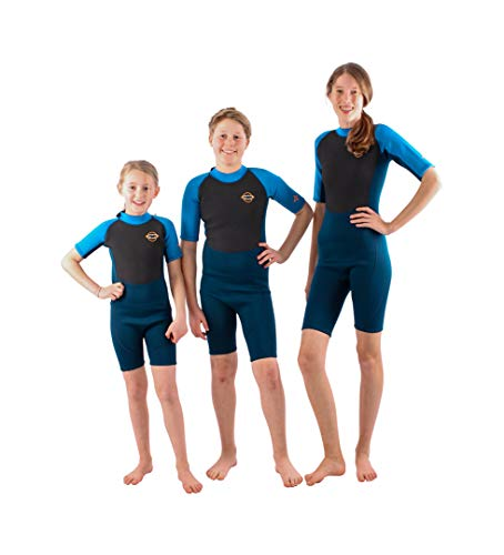 The Wetsuit Factory Kids 2.5mm Neopren Shorty Blue/red (Blue, 3/4Y)