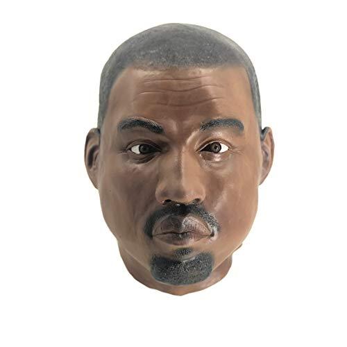 FYBR Kanye West Máscara de celebridad disfraz divertido para eventos y fiestas de Halloween