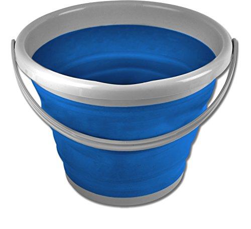 Plegable 10 litros cubo de agua de la fregona para barco de...