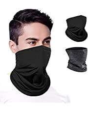 Cocoda Unisex Face Covering, UV Protection Face Cover Bandana Snood Balaclava Scarf for Man, Cooling Breathable Multifunctional Headwear Headband for Cycling Motorcycle Fishing Hiking Ski, 2 Pcs