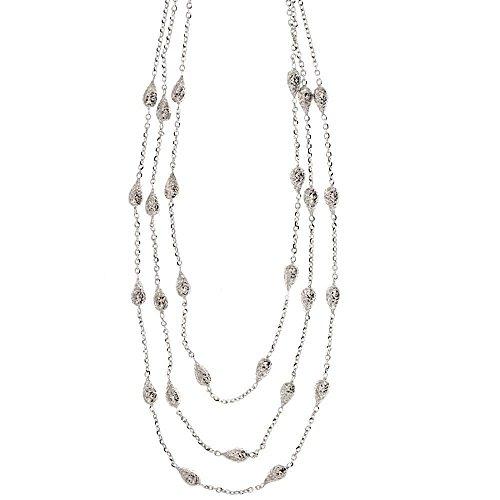Halskette aus 18-karätigem Gold 750/1000 Modell A Dreirad für Damen Oro Bianco