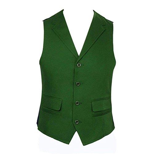 Nofonda Payaso Traje, Camisa Chaleco Corbata Para Cosplay(XL, Chaleco Verde)