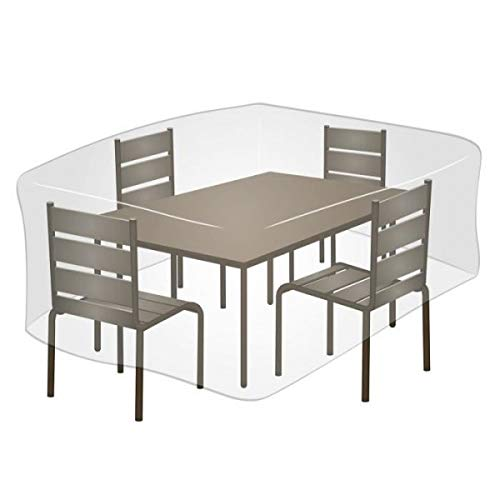 Greengeers Housse DE Protection Table RECTANGULAIRE PE Couleur, Gris Galet
