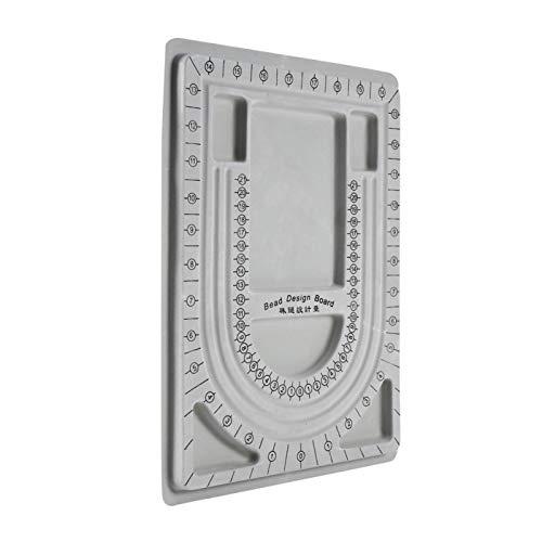 Oumefar Tablero de diseño de Cuentas Bandeja de diseño de Cuentas Collar Organizador de Joyas con Cuentas Diseño de Bandeja Herramienta de Manualidades DIY