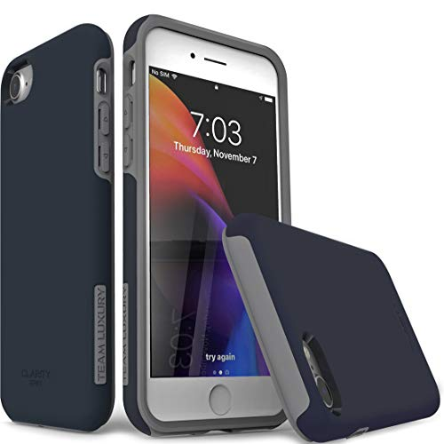 TEAM LUXURY [Clarity Series] Designed for iPhone SE 2020 Case/iPhone 8 Case/iPhone 7 case, Shockproof Protective Phone Cases Cover for Apple iPhone SE (2nd Generation)/8/7 4.7 Inch, Dark Navy Blue