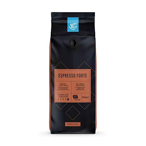 """Marca Amazon - Happy Belly Café de tueste natural en grano """"Espresso Forte"""" (1 x 500g)"""