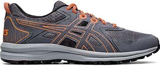 ASICS Men's Trail Scout Running Shoes, 10, Metropolis/Shocking Orange