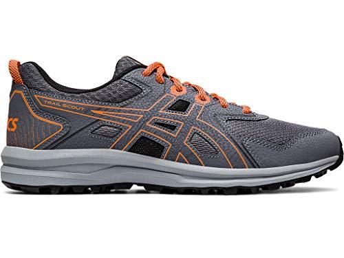 ASICS Men's Trail Scout Running Shoes, 10.5, Metropolis/Shocking Orange