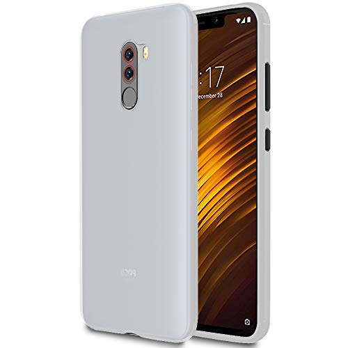United Case Funda Ligera para Xiaomi Pocophone F1   Bumper  TPU en Blanco Transparente  