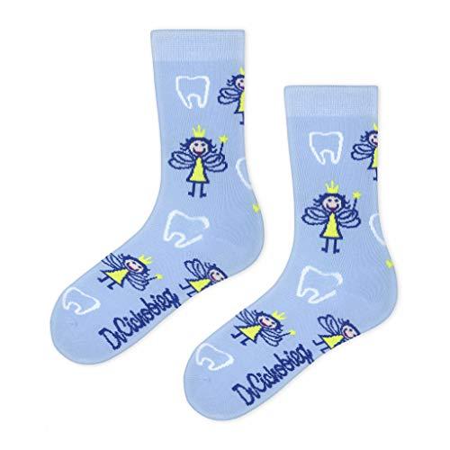 DrSoftStep Socken | 36-40 | Lustig Bequem Geschenk | Geburtstag | Arbeit Job | Tooth Fairies