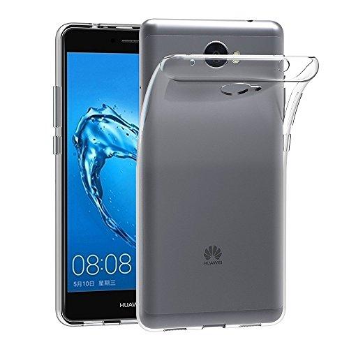 REY Funda Carcasa Gel Transparente para Huawei Y7 2017 / Y7 Prime, Ultra Fina 0,33mm, Silicona TPU de Alta Resistencia y Flexibilidad