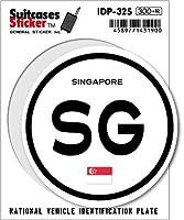 IDP-32S 国際識別記号ステッカー/シンガポール(SINGAPORE) スーツケースステッカー 機材ケースにも!