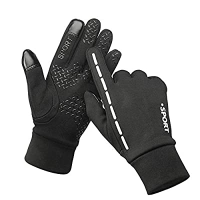 Leber Winter Touch Screen Sports Gloves for Men and Women Waterproof and Warm Perfect Bike Riding Motorcycle Running Mountaineering Driving Outdoor Accessories