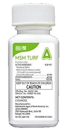 MSM Turf Herbicide 2oz (Gen Manor / Blade) Weed Killer Metsulfuron Methyl 60%