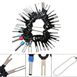 ACUMSTE 38Pcs Terminal Removal Key Tools Set for Car Auto Wire Connector Terminal Pin Extractors Puller Remover Repair Key Tools Set Most Terminal, Stainless Steel Needle Retractor Harness Connection Needle Picking Tool Pusher