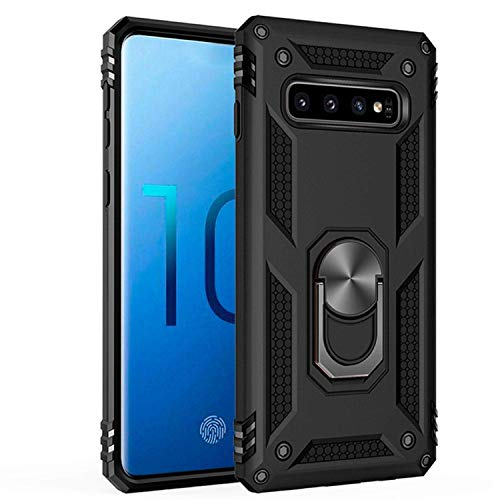 Samsung Galaxy S10 Case,Amuoc [ Military Grade ] 15ft. Drop Tested Protective Case | Kickstand | Compatible with Galaxy S10 (2019)-Black (askhc-002)