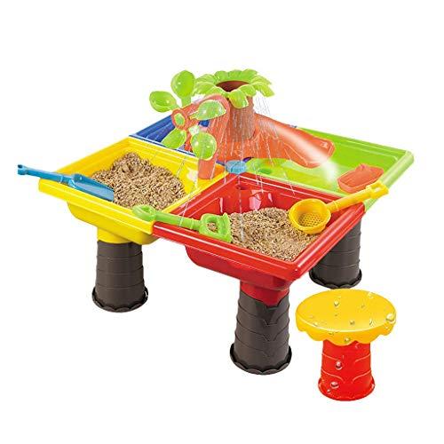 Arena jugando juguetes de playa Herramientas de playa, niños bebé verano diversión agua arena y mesa de agua jardín caja de arena niños con palas palancas rastrillos regadera puede castillo moldes de