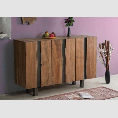 SEDEX Jalna Sideboard 145x45 cm Wohnzimmerschrank Konsole Anrichte Massivholz Schrank Akazienholz