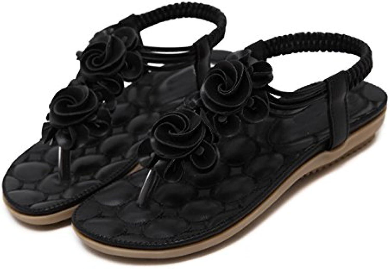 Dahanyi Stylish Women Casual shoes Flower Comfortable Sandals Flat Heel Summer Woman Bohemian Thong Sandals Flip Flops Plus Size