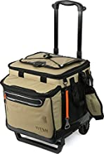 Arctic Zone Titan Deep Freeze 60 Can Rolling Cooler with All Terrain Cart, Moss, Titan 60 Can Rolling Cooler