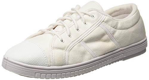 Gliders (From Liberty) Men's Tennis-E White Canvas Sneakers - 7 UK (8002156110410)