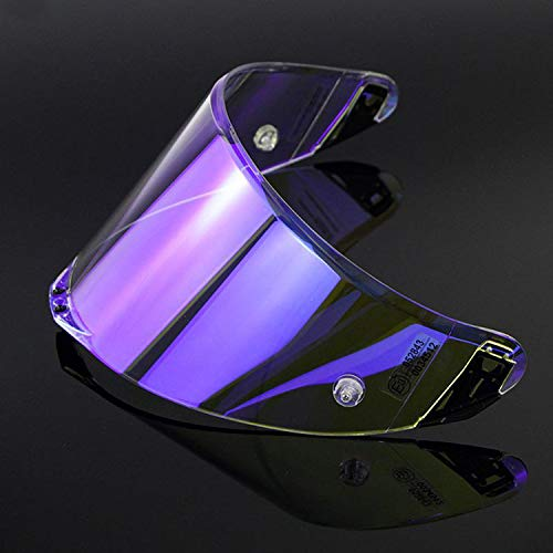 VRacing Visier Agv Pista Gp R, Corsa R, GP, Rennen, Veloce S, Schneller, Integralhelm Race 2 Pinlock und Tear Off Ready Aftermarket (transparent Revo blau)