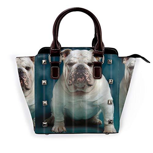 BROWCIN Bulldog francés fuerte El mejor perro de compañía Desmontable Moda Tendencia Bolso de las señoras Bolso de hombro