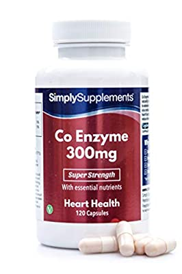 SimplySupplements Co Enzyme Q10 300mg|Healthy Heart & Increases Energy Levels|120 Capsules