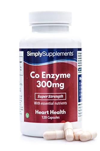 Coenzima Q10 300mg - ¡Bote para 4 meses! - Apto para veganos - 120 cápsulas - SimplySupplements