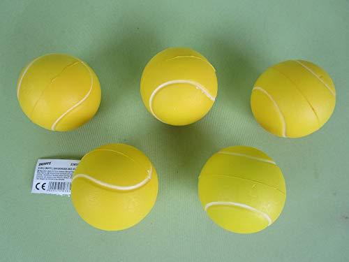 A.Haberkorn 5er Pack Softbälle / Tennisbälle aus Weichschaum
