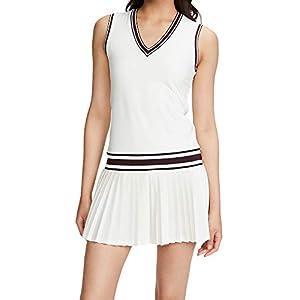 Tory Sport Women's Performance V Neck Tennis Dress