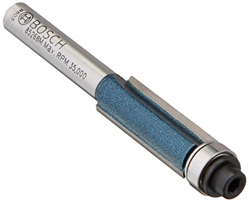 BOSCH 85268MC 3/8 In. x 1 In. Carbide-Tipped Double-Flute Flush Trim Router Bit