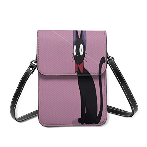 The Witch'S Familiar- Kiki Delivery Service Small Messenger Bag, Mobile Phone Wallet Wallet Lady Calf Leather Messenger Bag Mobile Phone Shoulder Bag