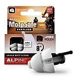Alpine MotoSafe Tour Motorcycle Reusable Ear Plugs for Wind Noise...